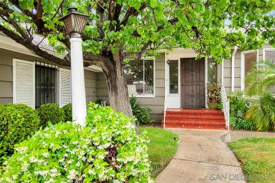 San Diego Single Family Home For Sale: 4778 Lucille Dr