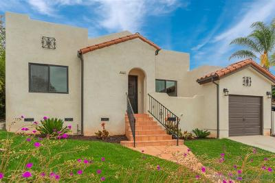 San Diego Single Family Home For Sale: 1327 33rd St.