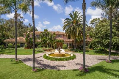 Rancho Santa Fe Single Family Home For Sale: 16356 Rambla De Las Flores