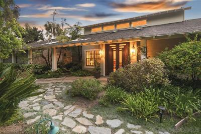 Solana Beach Single Family Home For Sale: 1568 Highland Dr