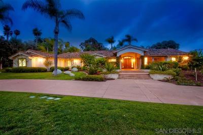 Rancho Santa Fe Single Family Home For Sale: 6955 Rancho La Cima Drive