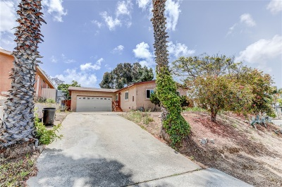 Chula Vista Single Family Home Contingent: 373 Morehouse Pl