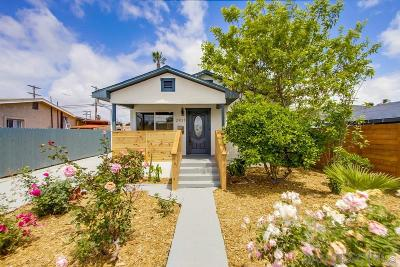 San Diego Single Family Home For Sale: 2921 Columbine St