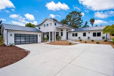 Encinitas Single Family Home For Sale: 312 Cole Ranch Road