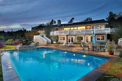 Rancho Santa Fe Single Family Home For Sale: 17963 Via De Fortuna
