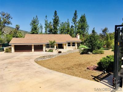 Escondido Single Family Home For Sale: 3437 Lomas Serenas Dr