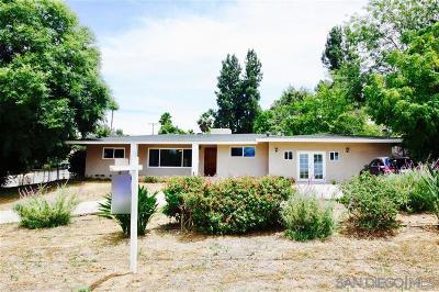 Escondido Single Family Home For Sale: 2930 Mary Lane