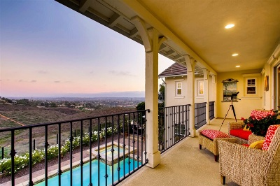 La Costa Ridge Single Family Home For Sale: 6937 Sitio Cordero