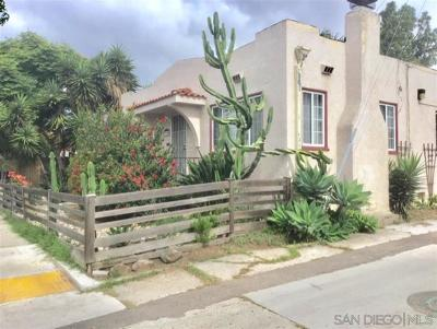 San Diego County Multi Family 2-4 For Sale: 3120-3122 Howard Ave