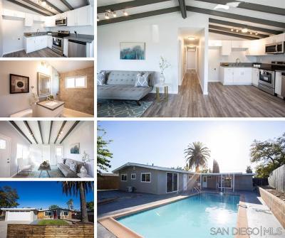 La Mesa Single Family Home For Sale: 6081 Nancy