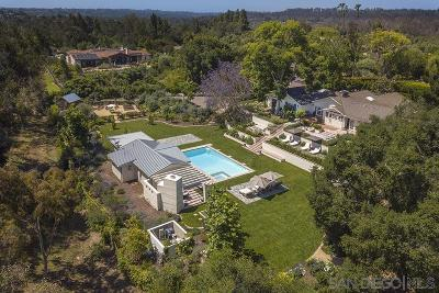 Rancho Santa Fe CA Single Family Home For Sale: $3,800,000