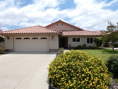 Fallbrook Single Family Home For Sale: 942 Ridge Heights Drive