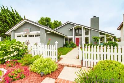 Carlsbad Single Family Home For Sale: 2603 Jacaranda Ave