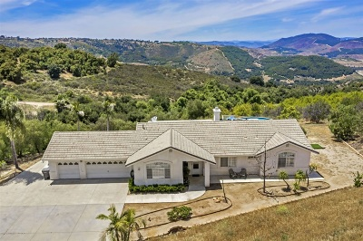 Valley Center Single Family Home For Sale: 31661 Pauma Heights Road