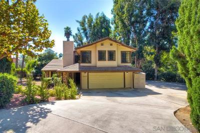 Escondido Single Family Home For Sale: 2663 Gianelli Ln