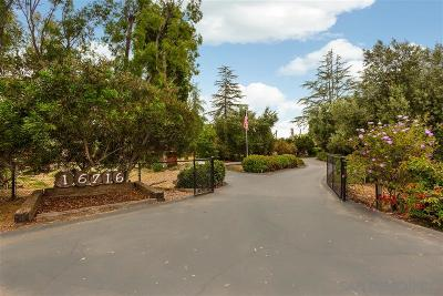 Poway Single Family Home For Sale: 16716 Martincoit Rd