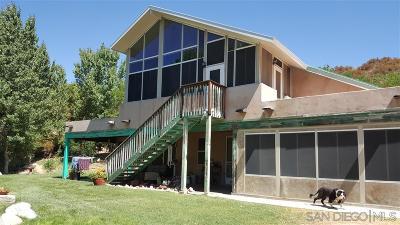 San Diego County Single Family Home For Sale: 26380 San Felipe Road