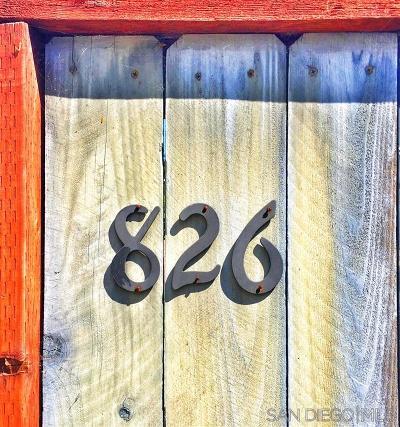 Escondido Single Family Home For Sale: 826 Birch Ave