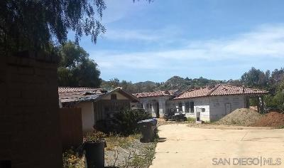 Single Family Home For Sale: 3369 Dehesa Road