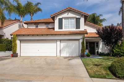 Escondido Single Family Home For Sale: 3115 Amberwood Ln