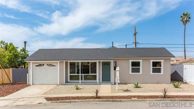 San Diego Single Family Home For Sale: 4508 Cochise Way