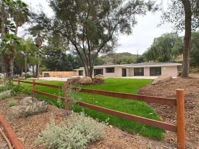 Single Family Home For Sale: 1455 Harbison Canyon