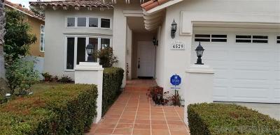 San Diego County Rental For Rent: 4529 Tarantella Ln