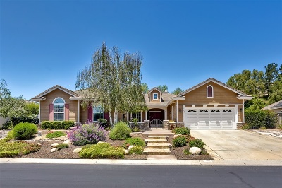 Fallbrook Single Family Home For Sale: 655 Braemar Ter