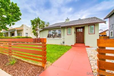 San Diego Single Family Home For Sale: 3115 McKinley St