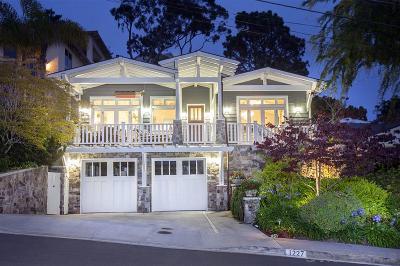 La Jolla Single Family Home For Sale: 1227 Olivet Street