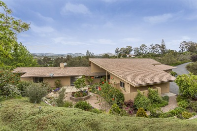 Rancho Santa Fe Single Family Home For Sale: 5458 Avenida Maravillas