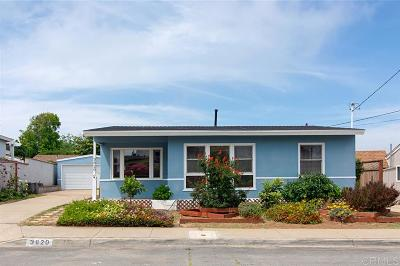 San Diego Single Family Home For Sale: 3820 Talbot Street