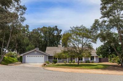 Fallbrook Single Family Home For Sale: 3191 Overland Trail