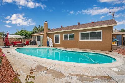 El Cajon Single Family Home For Sale: 1973 Jasmine St