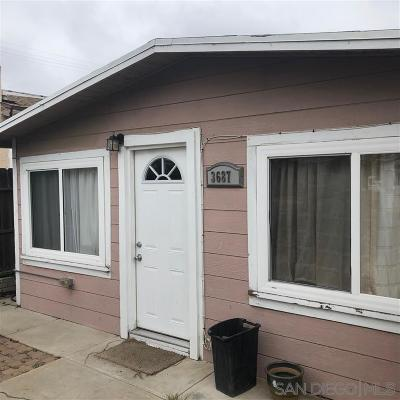 San Diego Single Family Home For Sale: 3687 Cherokee Ave