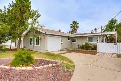San Diego Single Family Home For Sale: 6341 Amber Lake Ave