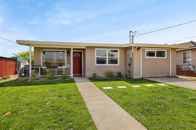 San Diego Single Family Home For Sale: 3829 Boren St