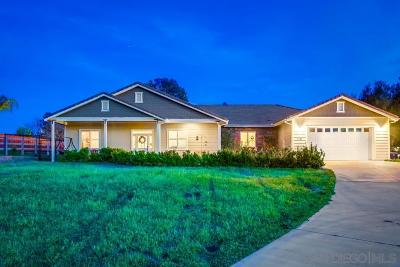 Ramona Single Family Home For Sale: 1082 Heritage Ranch Rd