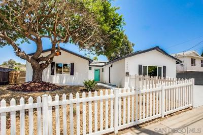 San Diego Single Family Home For Sale: 7902 Shorewood Dr
