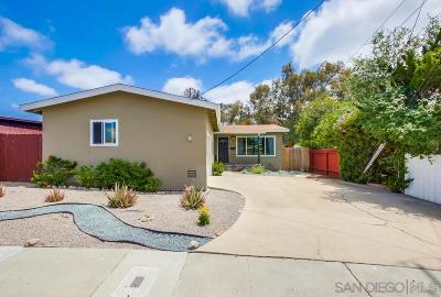San Diego Single Family Home For Sale: 6441 Shane Pl