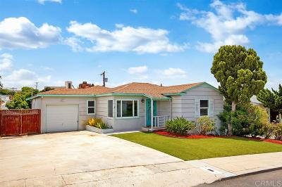 San Diego CA Single Family Home For Sale: $799,000