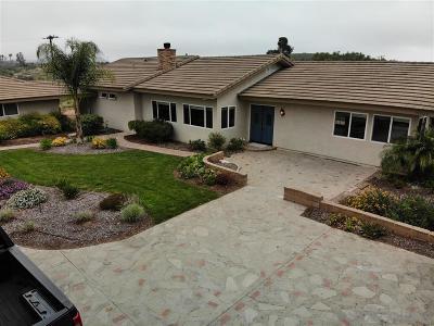 Escondido Single Family Home For Sale: 32025 Palos Verdes Dr