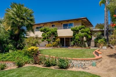 Single Family Home For Sale: 1101 Vista Grande Rd
