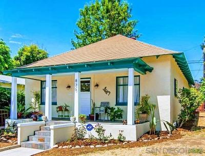 San Diego Single Family Home For Sale: 826 Glendale Ave