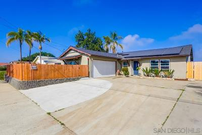 Lemon Grove Single Family Home Contingent: 1614 Watwood Rd