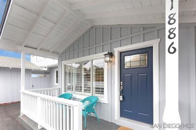Oceanside Single Family Home For Sale: 1886 Avocado Rd