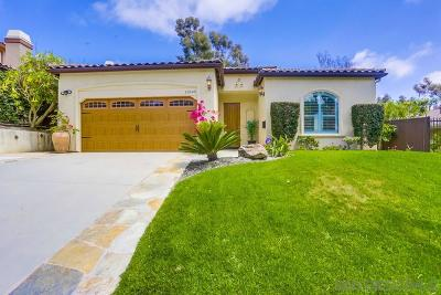 San Diego Single Family Home For Sale: 11845 La Colina Rd