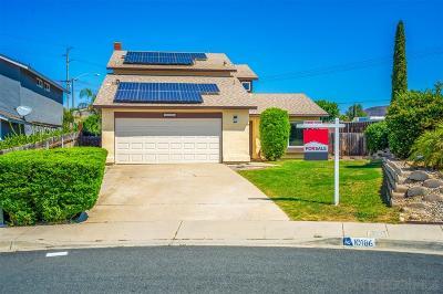Santee Single Family Home For Sale: 10186 W Glendon Cir