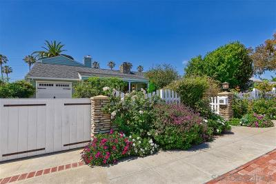 La Jolla Single Family Home For Sale: 442 Westbourne Street