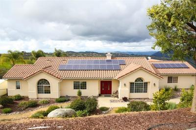 Valley Center Single Family Home For Sale: 30970 Pauma Heights Road